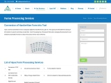 Forms Processing Services: Conversion of Handwritten form into Text