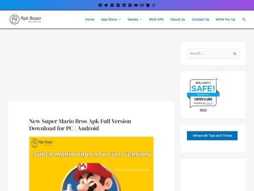 New Super Mario Bros Apk Full Version Download for PC | Android