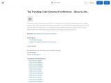 Decor La Rouge – Top Trending Color Schemes For Kitchens – Interior Design Agency