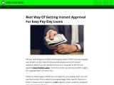 Best Way Of Getting Instant Approval For Easy Pay Day Loans