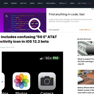 "Apple includes confusing ""5G E"" AT&T connectivity icon in iOS 12.2 beta"