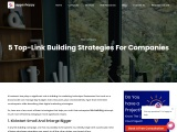 5 Top-Link Building Strategies For Companies