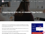 Importance of H1, H2, H3 Header Tags For SEO