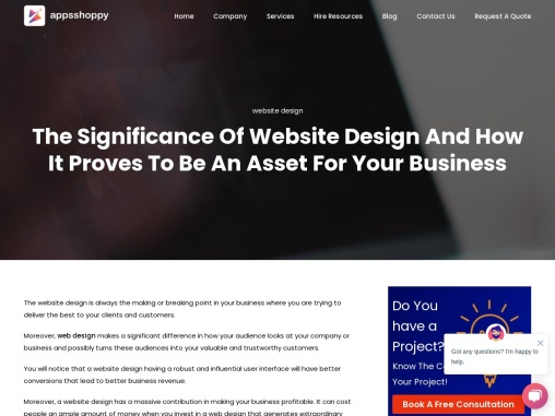 Title – The Significance Of Website Design And How It Proves To Be An Asset For Your Business