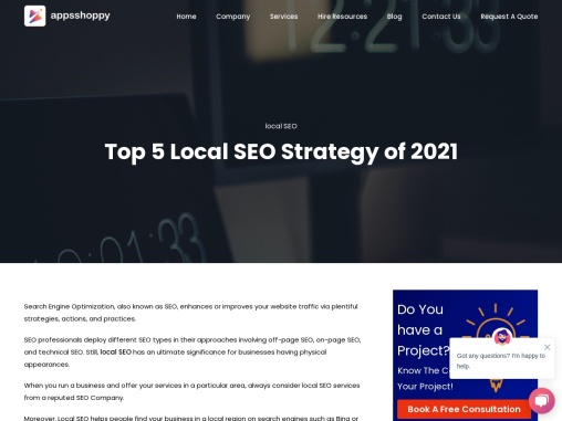 Top 5 Local SEO Strategy of 2021