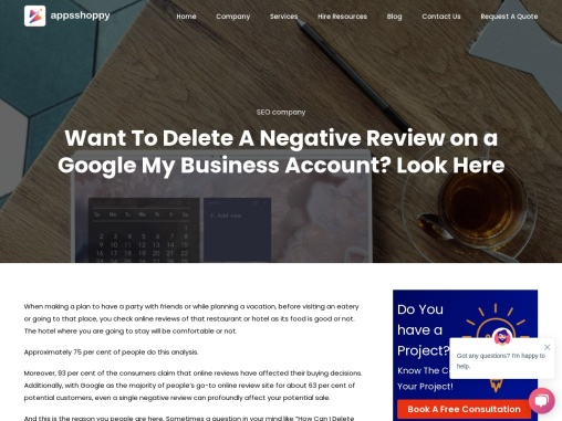 Want To Delete A Negative Review on a Google My Business Account? Look Here