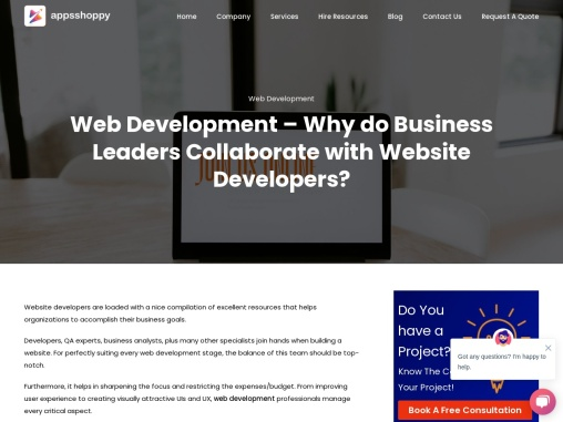 Title – Web Development – Why do Business Leaders Collaborate with Website Developers?