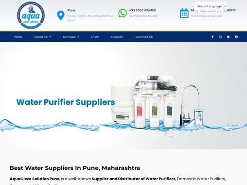 Best Water Purifier Suppliers & Dealers in Pune | Aqua Clear Solutions