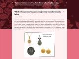 Wholesale aquamarine gemstone jewelry manufacturer in Jaipur