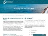 Shipping from USA to Kenya | Shipping to Kenya from USA | Aquantuo