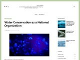 Water Conservation as a National Organization