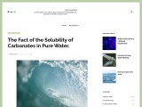 The Fact of the Solubility of Carbonates in Pure Water.