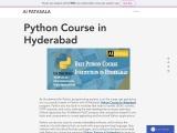 Python Course Online in Hyderabad