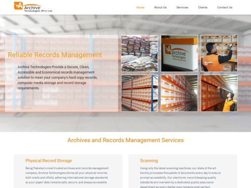 Archive Technologies – Provide Records Management Services in PAK