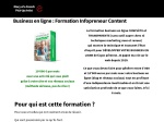 FORMATION INFOPRENEUR CONTENT