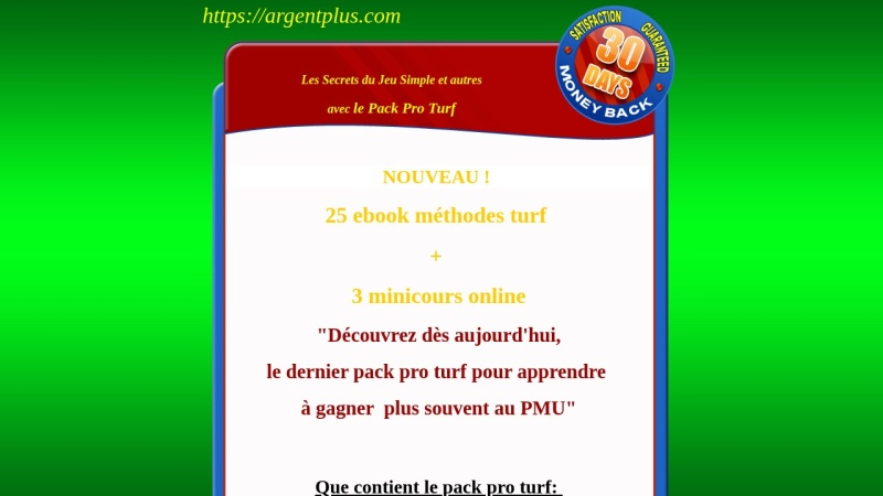 pack pro turf 25 ebook  3 mini-cours online