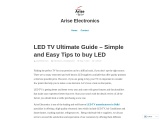 LED TV Ultimate Guide – Simple and Easy Tips to buy LED
