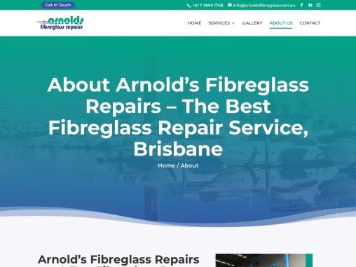 Arnold – Fibreglass repair service Brisbane