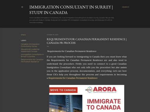 REQUIREMENTS FOR CANADIAN PERMANENT RESIDENCE | CANADA PR PROCESS