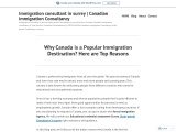 Why Canada is a Popular Immigration Destination? Here are Top Reasons