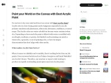 Paint your World on the Canvas with Best Acrylic Paint