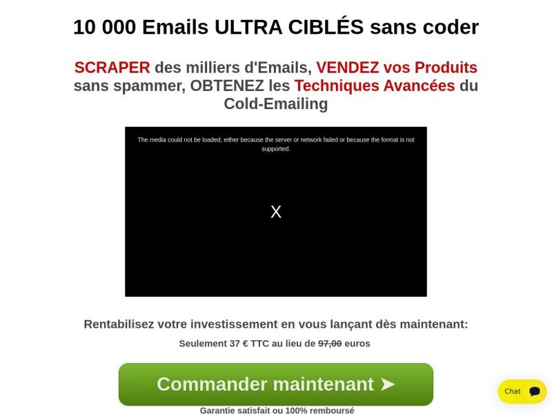 10 000 emails ultra cibles sans coder