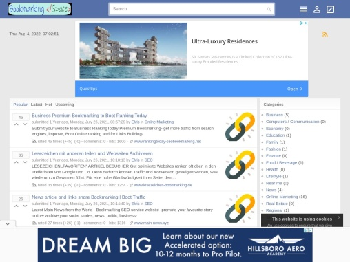 Article links submit SEO Bookmarking Space