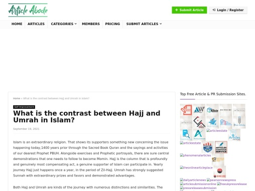 What is the contrast between Hajj and Umrah in Islam?
