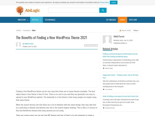 The Benefits of Finding a New WordPress Theme 2021
