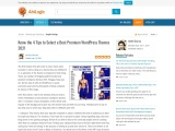 Know the 4 Tips to Select a Best Premium WordPress Themes 2021