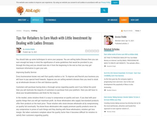 Wholesale Dresses Uk – Instructions For Retailers To Earn Much While Dealing With Ladies Dresses!