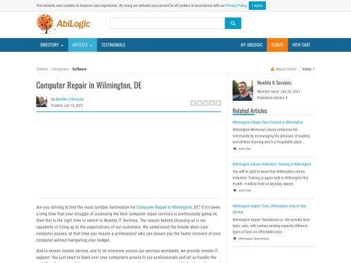 Computer Repair Wilmington, DE