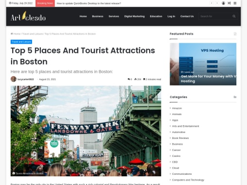 Top 5 Places And Tourist Attractions in Boston | Travel Guide