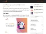 How is Flutter App Development Setting Trends?