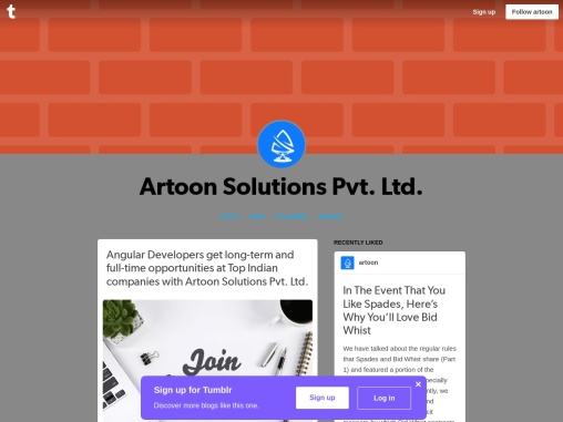 ngular Developers get long-term and full-time opportunities at Top Indian companies with Artoon Solu