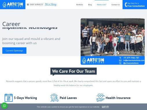 Job Vacancies at Artoon Solutions pvt ltd   Web & Mobile Developer