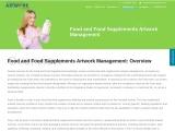 Food Supplements Artwork Management Services | Freyr Regulatory Artwork Services