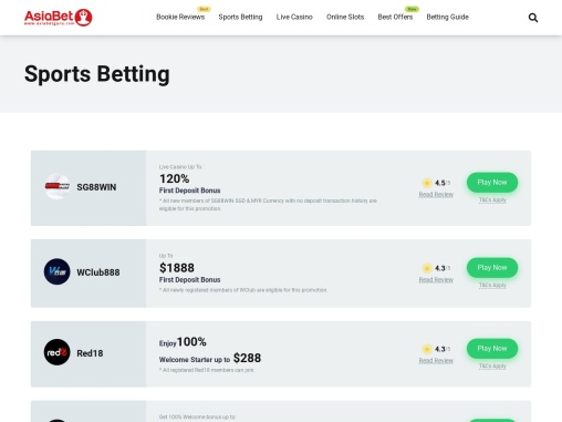 Sports Betting Sites in Asia – AsiaBetGuru
