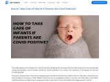 How to Take Care of Infants if Parents are Covid Positive?