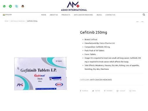 Gefitinib 250mg Anti Cancer medicines