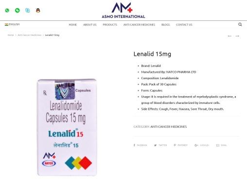 Lenalid 15mg Anti Cancer medicines