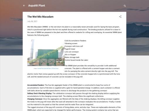 the wet mixing plant | Asphalt batch mix plant
