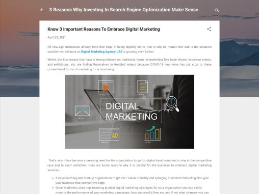 Know 3 Important Reasons To Embrace Digital Marketing