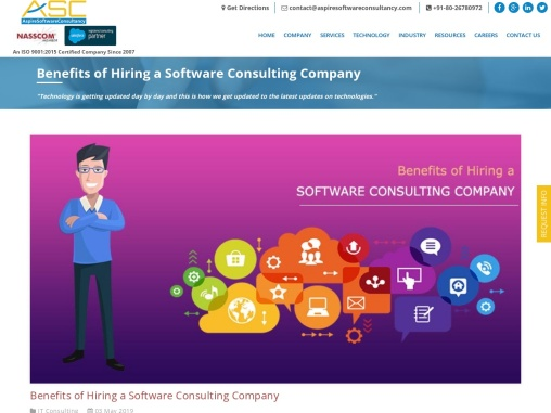 Benefits of Hiring a Software Consulting Company – Aspire Software consultancy