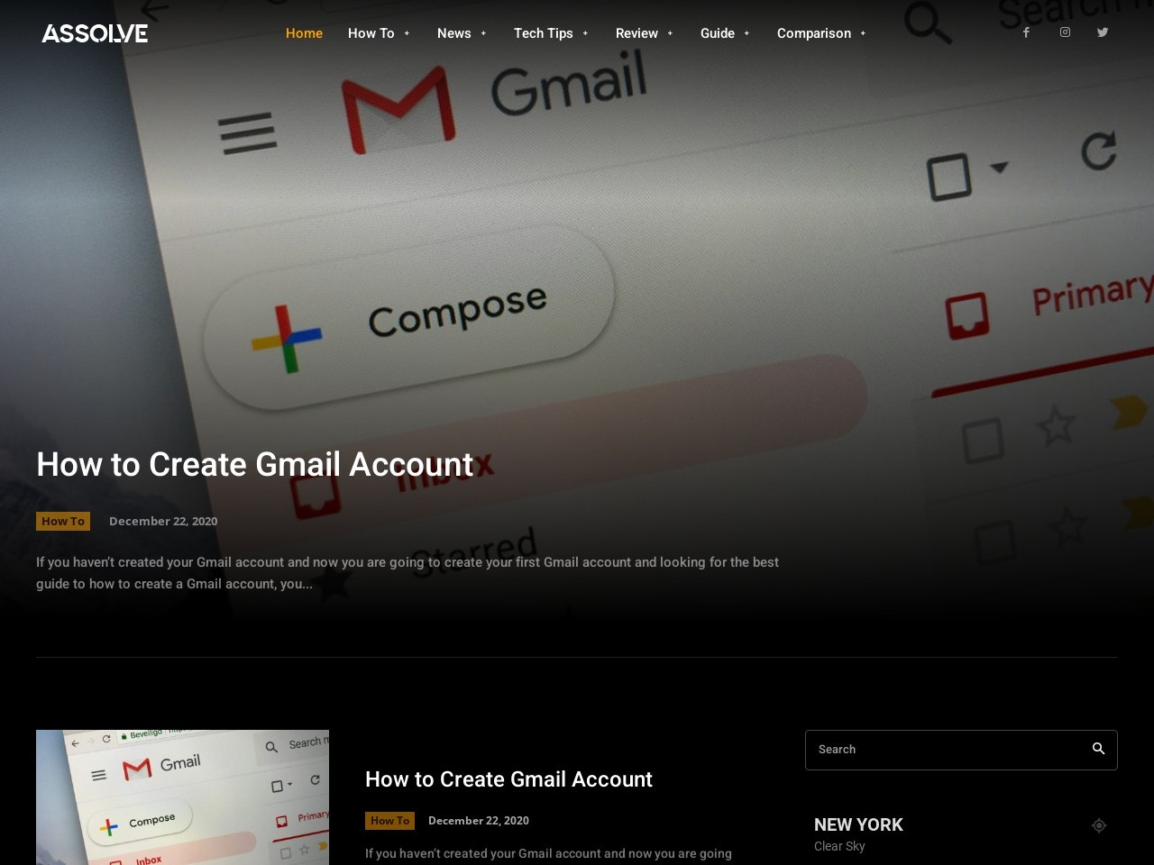 How to Create Gmail Account | How To | Assolve