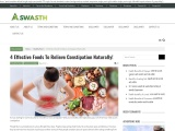 4 Effective Foods To Relieve Constipation Naturally!