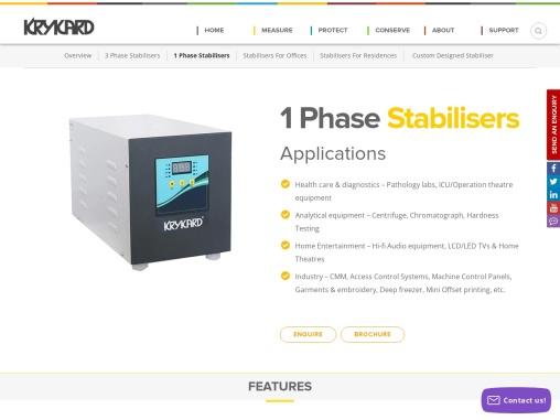1 Phase Stabiliser Manufacturers – India's No.1 Brand – KRYKARD