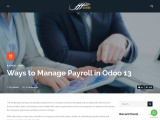 Ways to Manage Payroll in Odoo 13