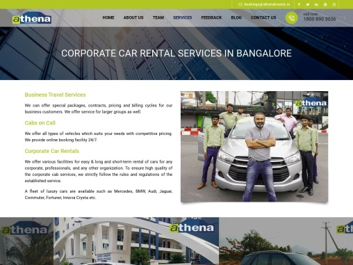Corporate Car Rental Services in Bangalore