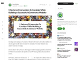 5 Factors of Conversion To Consider While Building a Successful eCommerce Website
